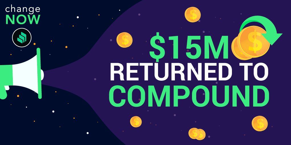 ChangeNOW Returns $15M Worth of COMP Lost in Compound Malfunction
